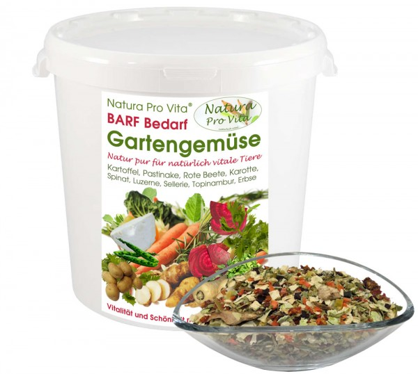 Gartengemüse Natura ProVita Barf Bedarf Natur pur leckere Gemüsemischung für Hunde und Katzen 3kg