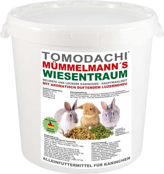 Kaninchenfutter, Raufutter Hase, Luzerneheu, Kräuter, Löwenzahn, Gemüse, Mümmelmanns Wiesentraum 3kg