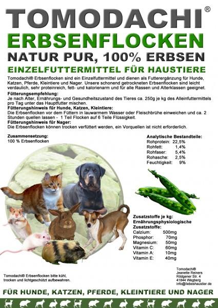 Erbsenflocken Nager, Nagerfutter, Nagersnack, Vitamine, Protein, Mineralien, kalorienarm 5kg