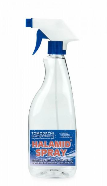 Halamid Spray zur Giardienbekämpfung bei Katze und Hund 0,5L Sprühflasche, 10g