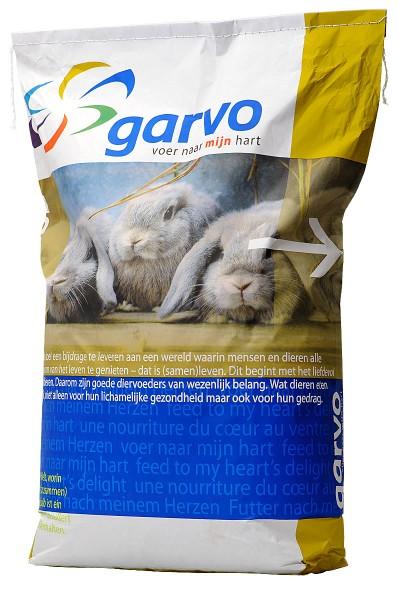 Kaninchenfutter Garvo 5064 Alfamix Strukturfutter für Kaninchen mit Luzerneheu 15kg Sack