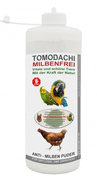 Kieselgur, Milbenkiller, Anti Milbenpuder, Vogelmilbenfrei, Tomodachi Milbenfrei 1 L Stäubeflasche