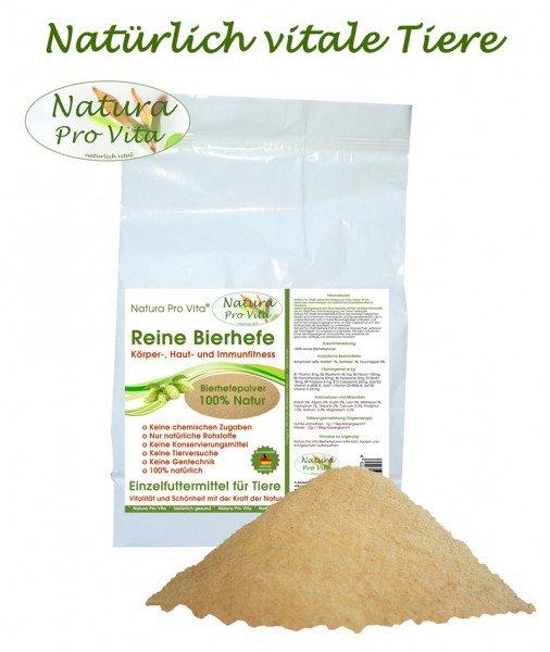 Reine Bierhefe für Hunde gut für Haut Fell Stoffwechsel Verdauung Natura ProVita Bierhefepulver 10kg