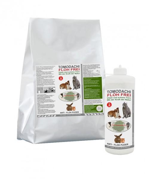 Flohkiller Hund, Katze, Kieselgur, Flohmittel 3kg + 100g Stäubeflasche, Set