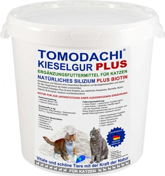 Kieselerde Plus Biotin Katze Silizium Mineralien Vitamine Aminosäuren natürlicher Futterzusatz 1L