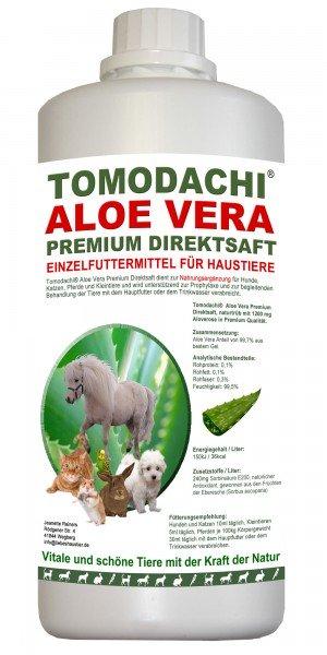AloeVera Hund, BARFen, Immunsystem, Stoffwechsel, Verdauung, Premium Direktsaft, Futterzusatz 500ml