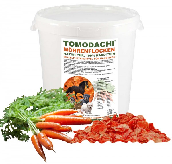 Möhrenflocken, Karotten Hund, BARF Gemüse Verdauung, Stoffwechsel, Immunsystem 2kg