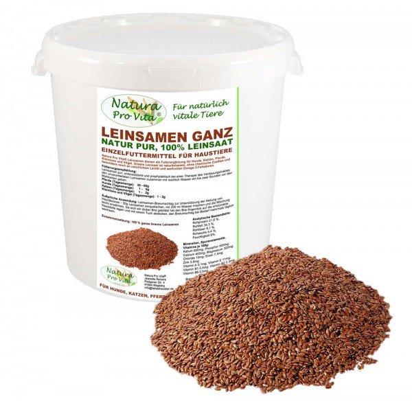 Leinsamen für Katzen, Verdauung, natürliche Magenpflege, Darmpflege, Omega-3, NaturaProVita 1kg