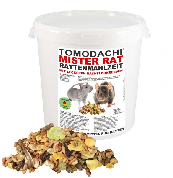 Rattenfutter, Ratten Komplettnahrung mit tierischem Eiweiß, Tomodachi® Mister Rat 1kg