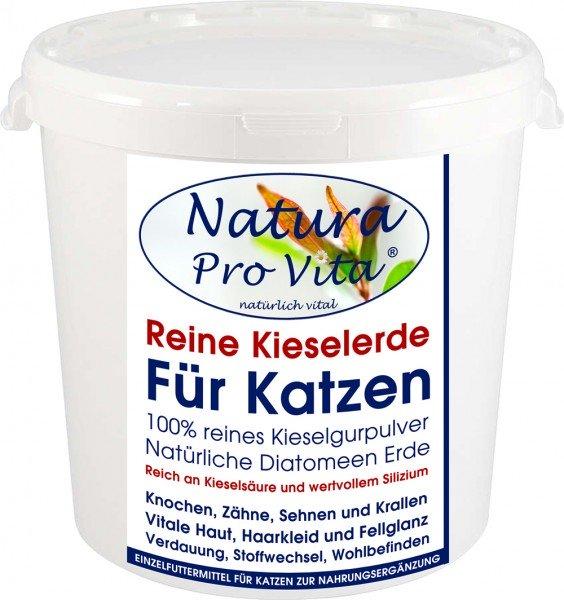 Kieselerde, reine natürliche Kieselgur für Katzen, Silizium - Fell, Krallen, Knochen, Verdauung 1kg