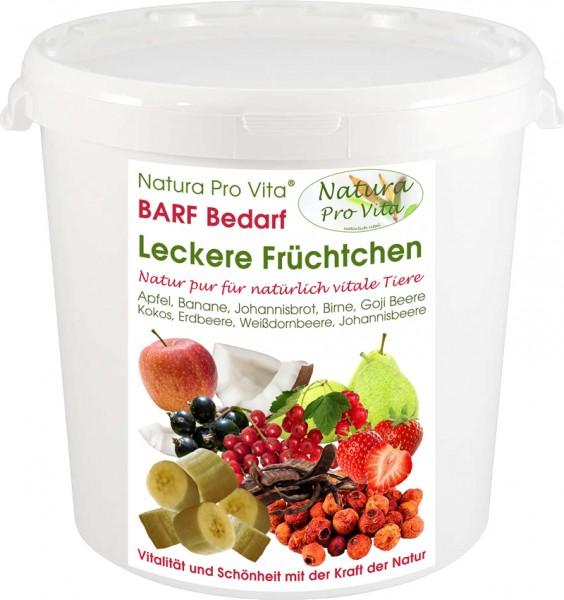 Obstmischung Barf Früchte Hund + Katze köstlicher Fruchtsnack Natura ProVita Leckere Früchtchen 2kg