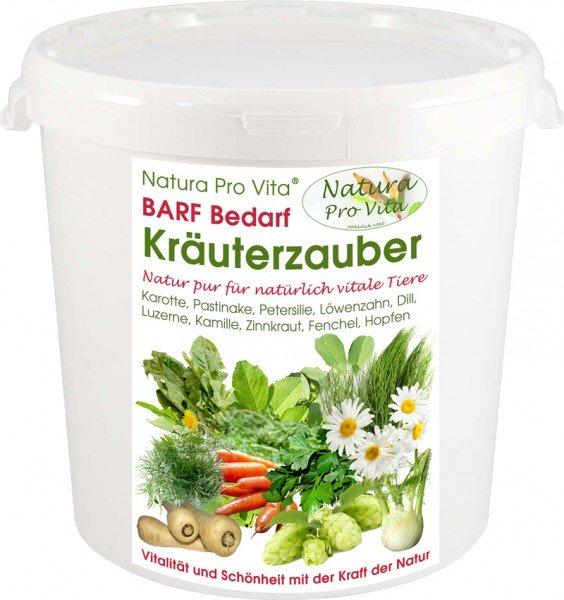 Barf Kräuter und Gemüsemischung natürlich Hund u. Katze Natura ProVita Barfbedarf Kräuterzauber 1kg