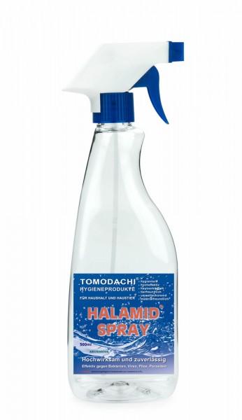 Handdesinfektion, Flächendesinfektion, Desinfektionsspray gegen Viren, Bakterien, Halamidspray 500ml
