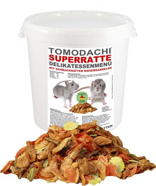 Rattenfutter mit Garnelen. Erbsenflocken, Karottenflocken Tomodachi Superratte Rattenmenü 2kg