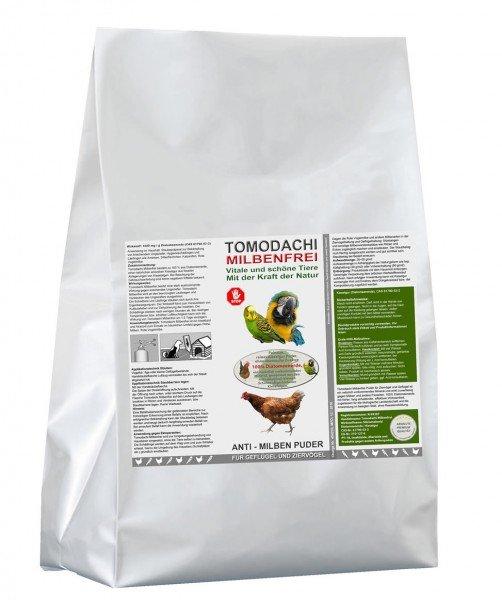 Vogelmilbenkiller Kieselgur, Anti-Milbenpulver, Milbenpuder, Tomodachi Milbenfrei 5 Liter Sack