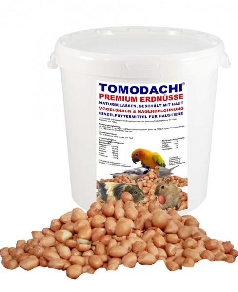 Erdnüsse geschält mit Haut, Nagerfutter, Nagersnack, Naturprodukt unbehandelt 2kg Eimer