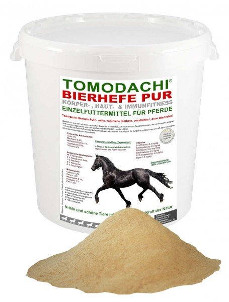 Bierhefe Pur, Einzelfuttermittel Pferd, 100% reine Bierhefe Huf, Haut, Haar 3kg
