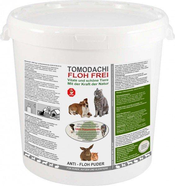 Flohmittel, Anti-Floh Puder, Flohpulver für Hunde, Katzen, Kieselgur, Kieselerde 1kg Eimer