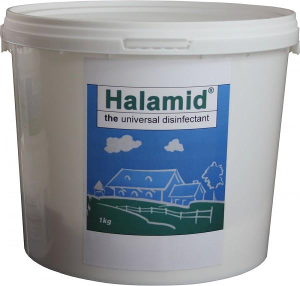 Halamid/ Chloramin-T gegen Bakterien, Viren, Pilze und Giardien, 1kg Eimer