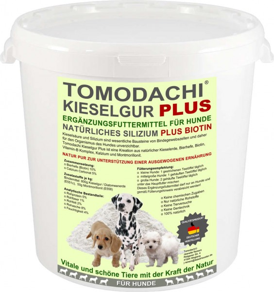 Barfzusatz für Hunde natürliche Kieselerde mit Biotin reich an Silizium Biotin Mineralien 10L