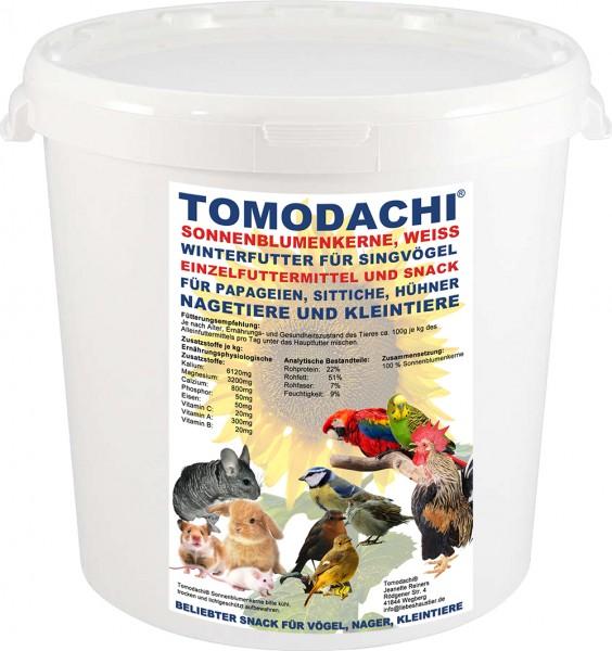 Hühnerfutter, Sonnenblumenkerne weiß, Hühnerbelohnung, Sittichfutter, Papagei, Vogelsnack 3kg