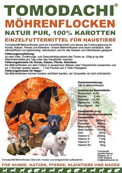 Möhrenflocken Katze, Stoffwechsel, Verdauung, Immunsystem Ergänzungsfutter, Diätfutter 10kg