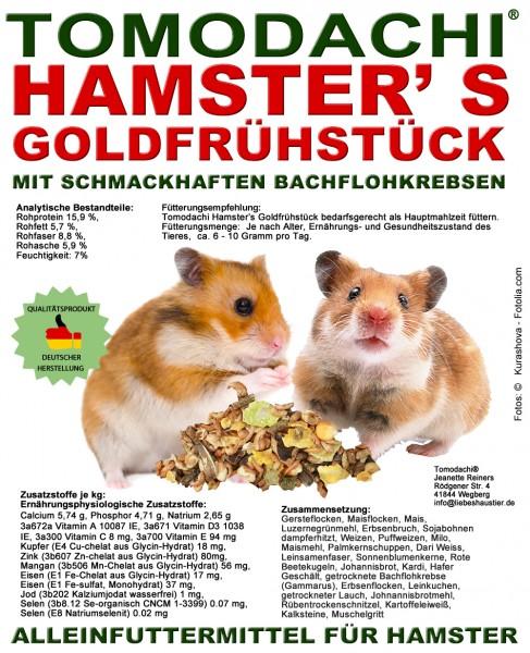 Hamsterfutter mit tierischen Proteinen, Bachflohkrebse, Gemüse, Luzerne, Löwenzahn 10kg