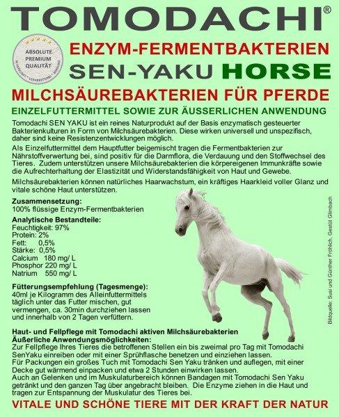 Milchsäurebakterien Pferd - Immunsystem, Stoffwechsel, Verdauung, Haut und Fell 5L
