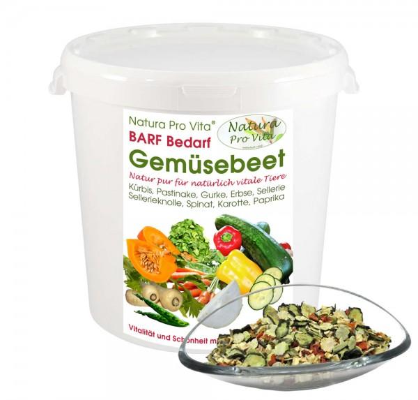 Gemüsemischung Hund und Katze natürliches köstliches Gemüse NaturaProVita Barfbedarf Gemüsebeet 1kg