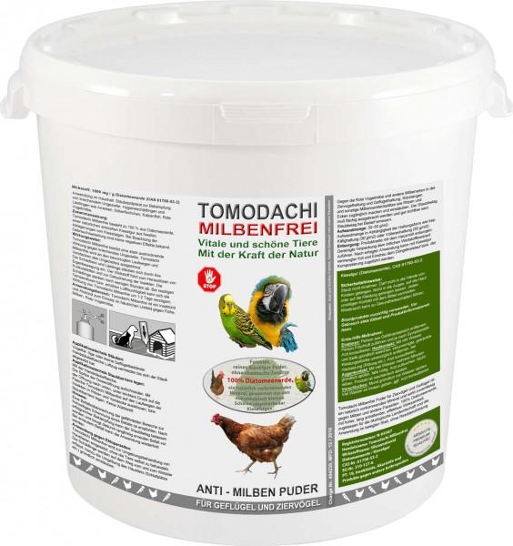 Vogelmilbenkiller Kieselgur, Anti-Milbenpulver, Milbenpuder, Tomodachi Milbenfrei 10L Eimer