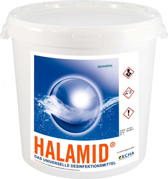 Desinfektionsmittel Halamid tötet Viren, Bakterien, Pilze, Giardien 1kg Eimer
