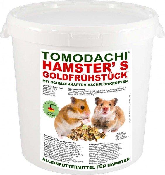 Hamsterfutter mit tierischen Proteinen, Bachflohkrebse, Gemüse, Luzerne, Löwenzahn 3kg