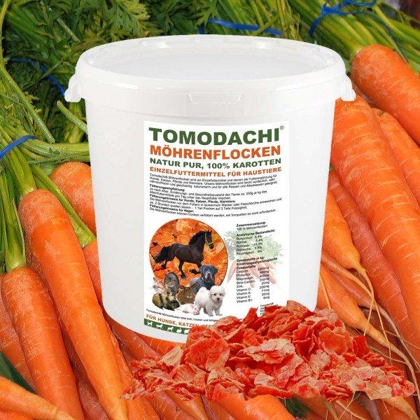 Möhrenflocken, Karotten Hund, BARF Gemüse Verdauung, Stoffwechsel, Immunsystem 1kg