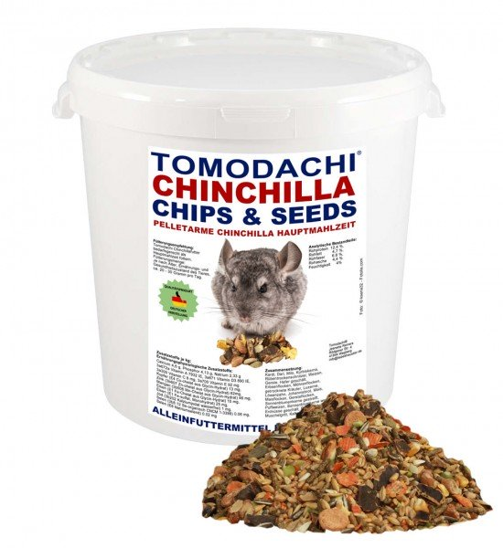 Chinchillafutter, Komplettnahrung für Chinchillas Tomodachi Chinchilla Chips 1kg