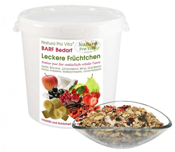 Barf Früchte für Hund + Katze natürliche leckere Obstmischung Natura ProVita Leckere Früchtchen 500g