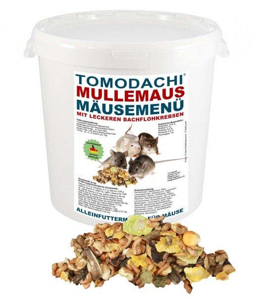 Mäusefutter, Komplettfuttermischung Gemüse, Getreide, Bachflohkrebse Tomodachi Mäusemenü 1kg