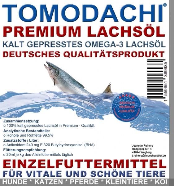 Lachsöl BARF Zusatz für Hunde, Premium Lachsöl kalt gepresst, Haut, Fell, Verdauung, 10L