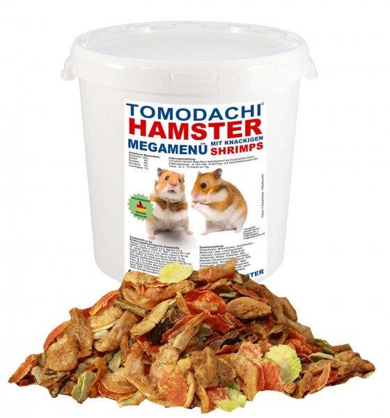 Hamsterfutter, Komplettnahrung mit tierischen Proteinen, Shrimps, Tomodachi® Hamster MegaMenü, 1kg