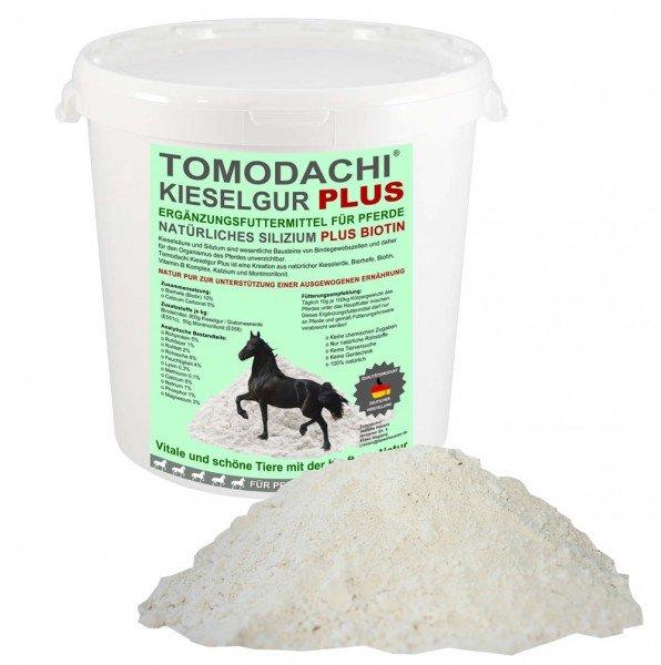 Kieselerde Plus Biotin Futterzusatz Pferd reich an Silizium, Biotin, Calzium, Mineralien 2L