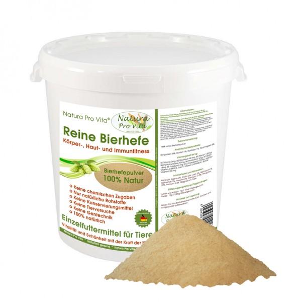 Natura Pro Vita reine Bierhefe Hund gut für Haut und Fellglanz, Vitamine, Aminosäuren 500g