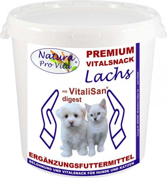 Hundebelohnung Lachs Hundesnack NaturaProVita Vital Snack + VitaliSan Digest Vitalzusatz 2kg