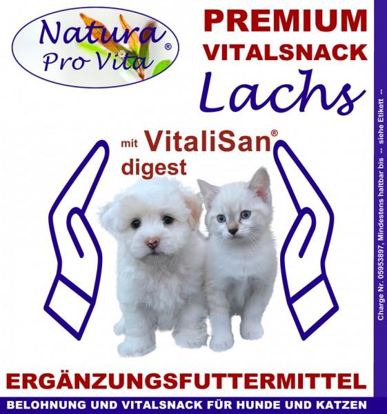 Hundebelohnung Hundesnack Lachs NaturaProVita Vital Snack mit VitaliSan Digest Monoglyceriden 300g