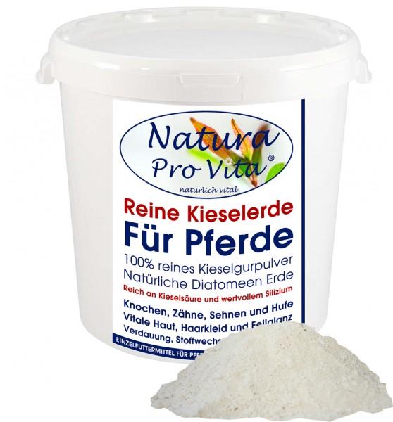 Kieselgur für Pferde, natürliche Kieselerde, Siliziumkur für Huf, Haut, Fell, Sehnen, Verdauung 1kg