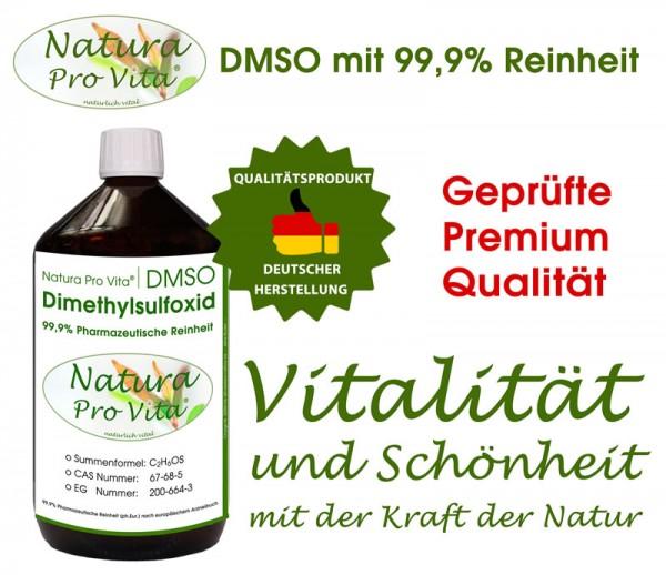 DMSO 99,9% Reinheit, Pharmaqualität, Natura Pro Vita DMSO, transdermale Anwendungen beim Tier 1L