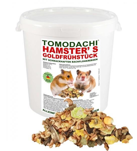 Hamsterfutter mit tierischen Proteinen, Bachflohkrebse, Gemüse, Luzerne, Löwenzahn 10 Liter