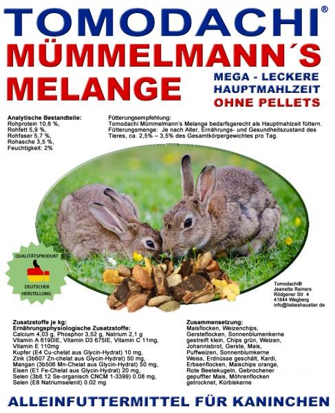 Kaninchenfutter, Hasenfutter pelletfrei - Mümmelmanns Melange 10kg Sack